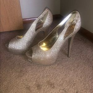Material Girl Glitter Heels